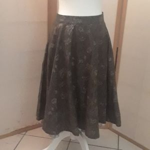 Brown skirt with a built in slip